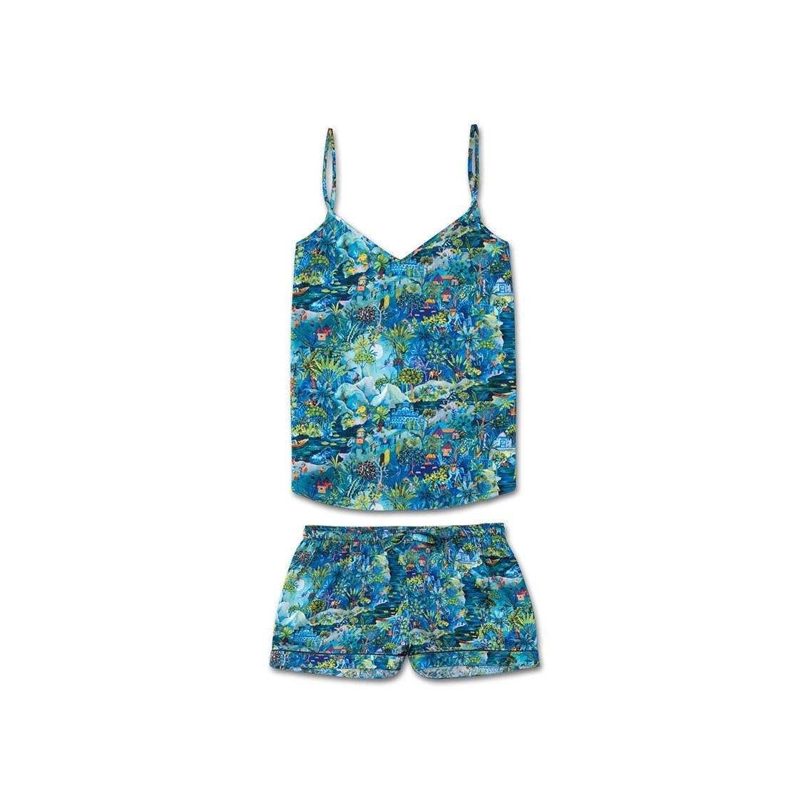 Women's Cami Short Pyjama Set Brindisi 24 Silk Multi